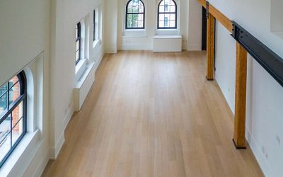 This light and wide plank flooring is featured in this luxury apartment in lower Manhattan at 443 Greenwich Street, NY, New York.